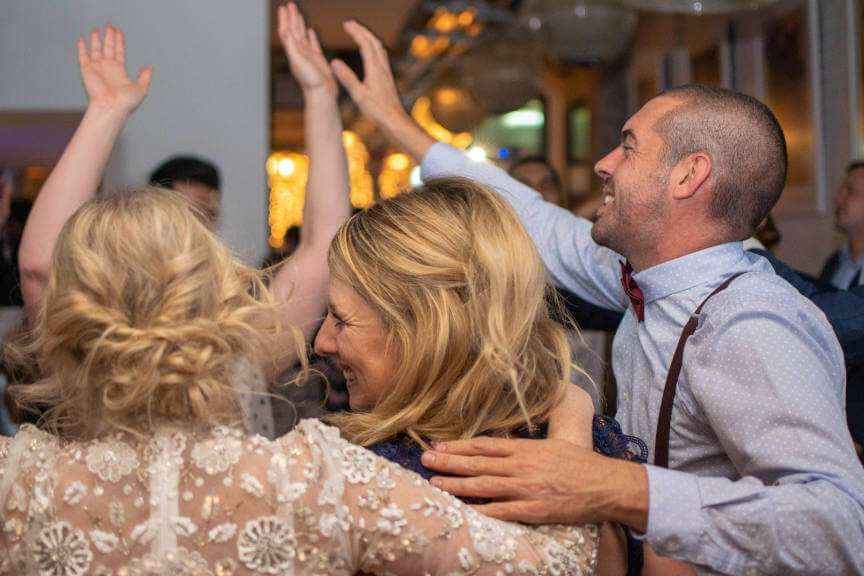 People dancing at a London wedding