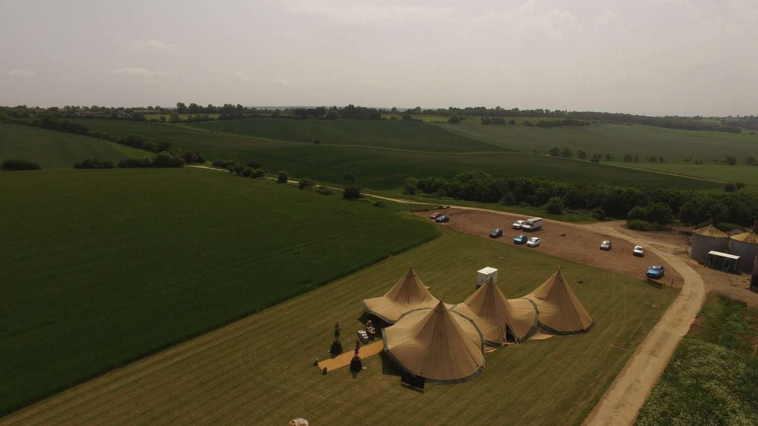 The Barns at Lodge Farms tipi wedding